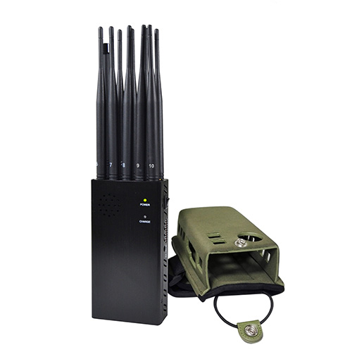 Signal blocker Greenacre - 5 Antenna Portable Mobile Phone Jammer 2G 3G GPS Jammer and WiFi Jammer
